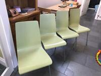 Bistro/dining chairs in light green
