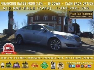 2015 Buick Regal Turbo-$61/Wk-Bluetooth-HtdLthrSts-RearCam-WIFI-