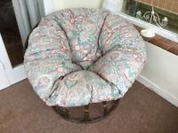 Large Circular Conservatory Chair,Cane Base