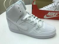 Nike Air Force one WHITE HIGH TOPS size 9