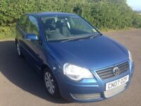 2007 VW Polo 1.4SE Automatic 3 Door in Metallic Blue, only 45000 miles, with FSH & Cam Belt Changed