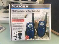 ilvercrest PMR Twin talker 2 way radio set