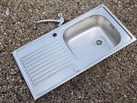 Stainless Steel Sink Unit & Mixer Tap