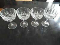 x4 crystal glasses for sale for £20