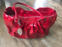 Lulu Guinness large Red patent Leather handbag