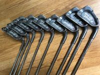 PING ZING2 GOLF CLUBS 3-SW irons x 9 red dot steel shaft