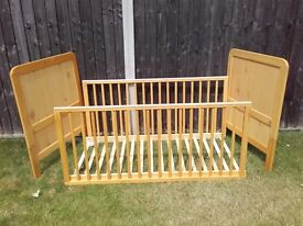 John Lewis 'Alex' Cot Bed, Natural Pine