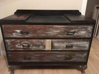 Shabby chic chest of drawers dresser