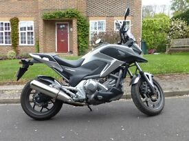 HONDA NC 700 XD-C 2012 SILVER AUTOMATIC ABS MILEAGE ONLY 1891 ONE OWNER IMMACULATE, CENTRE STAND