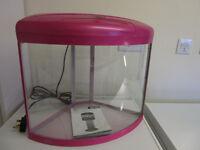 Small Corner Aquarium Fish Tank 30 Litres Pink