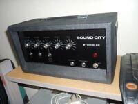 1970s Sound City Studio 20 Vintage Valve Amplifier Mint + Original Box