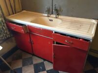 50s /60s Kitchen units great for restoration project.