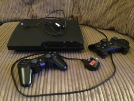 Sony PlayStation 3 Slimline Console with 2 Controllers (1 Sixaxis & 1 Dualshock)