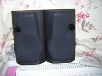 Two sets of speakers