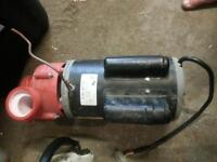 Calspa 5hp pump, balboa board and panel with switch, heater