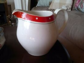 PRETTY LARGE 1950'S 'ALFRED MEAKIN' JUG/PITCHER.. VINTAGE KITSCH, SHABBY CHIC, COUNTRY KITCHEN