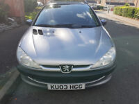 """PEUGEOT 206 SW, """"03"""" PLATE **1.4CC, MOT AUGUST 2019** DELIVERY OPTION AVAILABLE"""