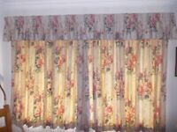 "Pair of lined curtains each 104 "" wide x 52"" long very good condition"