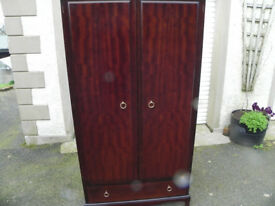 Stag wardrobe with drawer