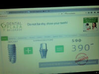 Your dentals solved 70% cheaper then UK,EU,USA,CAN,AUS German technology Belgrade prices