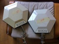 White Simmons Hexagon drum pads