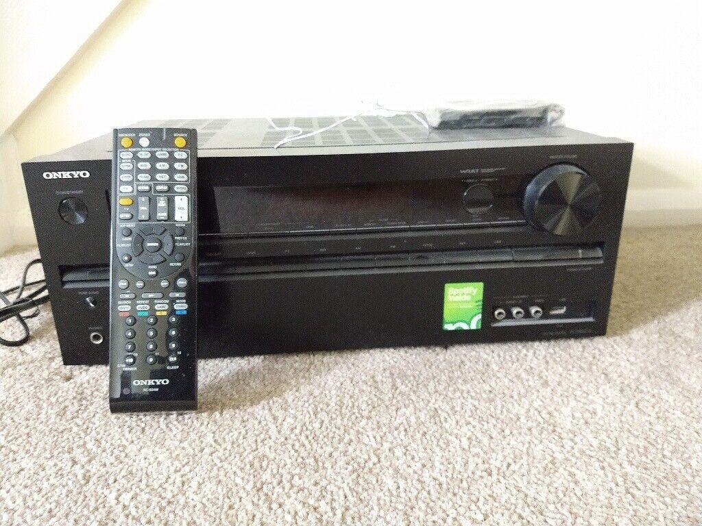 Onkyo TX-NR414 AV Amplifier with remote - Faulty (HDMI board)   in Woking,  Surrey   Gumtree