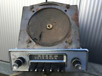 very old radio set crome front 60s style with speaker but old see in pic