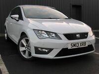 New Shape Seat Leon 2.0 Tdi 150 FR 5 Door Metallic White Low Miles 2013