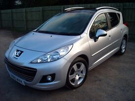 Peugeot 207 SW 1.6 HDI 92bhp Sport 5dr, Silver, August 2010 £2850 ovno