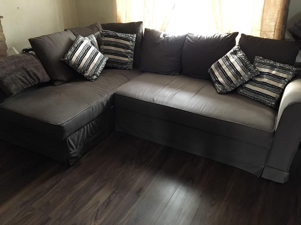 Ikea Moheda Corner Sofa Bed Couch Including 6 Cushions
