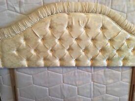 King size head board clean condition cream