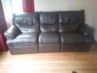 leather sofa and chair recliners