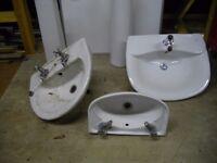Wash/Hand basins, X 3