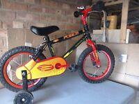 "14"" Child's bike with stabilizers"