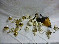 Package of retro wall and ceiling light fittings