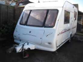 elddis odyssey 432 2 berth with motor mover 2004 in very good condition