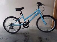 Girls sierra terrain 6 speed bike suits 7+