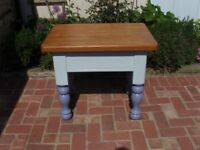 Small painted table.