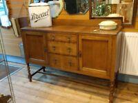 Wooden oak sideboard cupboard dresser kitchen living room