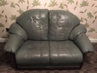3-piece full leather suite