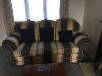 Large sofa and two chairs for sale or swap.