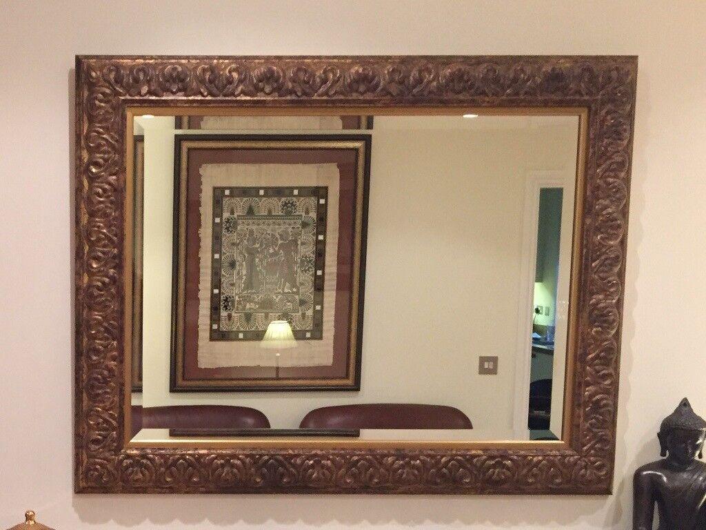 Beautiful wall mirror in subtle shades of gold created by framing beautiful wall mirror in subtle shades of gold created by framing shop in milkhouse gate jeuxipadfo Choice Image