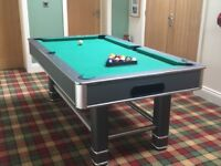 6x3 Pool Table, balls and some cues