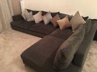 Large luxurious corner sofa