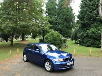 2008 BMW 118 SE 2.0 Turbo Diesel 5 Door Hatchback Blue *New MOT*F/S/H*Clutch and Flywheel Replaced*