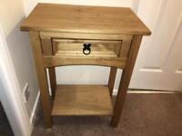 Wood dressing table