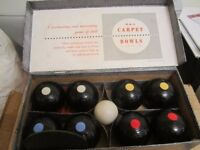 Boxed Set of Vintage B&A carpet bowls