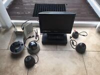 Home cctv system. Monitor, dvr, cameras.