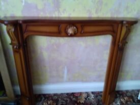 Excellent condition wooden fire surround. Can be painted.