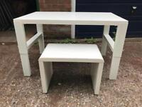 White Ikea Children's Desk & Stool - Delivery Available